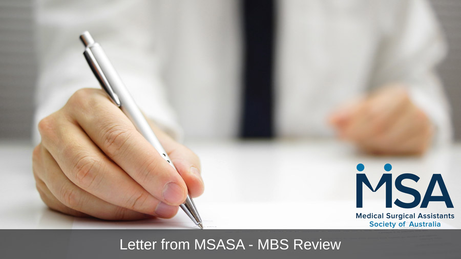 Letter from the President to Societies and Colleges on MBS