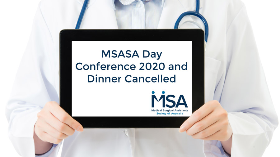 MSASA Day Conference 2020 and Dinner Cancelled